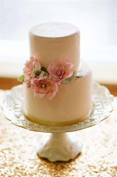 light brown wedding cake pink flowers  wed