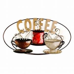 Coffee is Served Metal Wall Plaque Kirklands