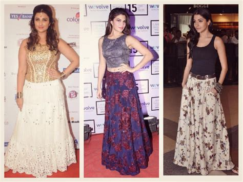 bollywood actress wearing long skirts how to look trendy in summers of 2017 let us publish