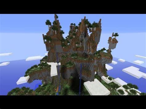 minecraft snapshot wa amplified world type giant mountains waterfalls  youtube