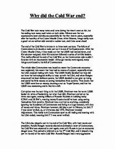 Sample Grad School Essays Cold War Research Essay Topics One Essay also Bullying Essay Examples Cold War Essay Questions The Term Paper Cold War Essay Questions Ibd  Cause Effect Essay