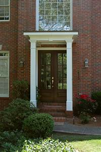 Flat, Roof, Portico, Designed, And, Built, By, Georgia, Front, Porch