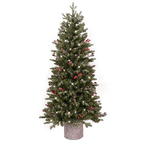 shop ge 4 5 ft pre lit frasier fir slim flocked artificial
