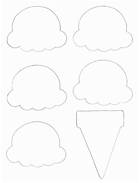 food crafts print  ice cream cone template