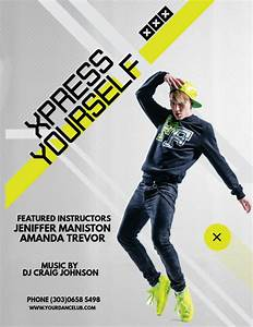 Audition Poster Design Dance Fitness Flyer Template Postermywall