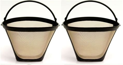 Gold tone #4 permanent cone coffee filter. 2 PACK Universal Gold Tone Permanent #4 Cone Coffee Filter ...