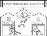 Earthquake Safety Coloring Shake Template sketch template