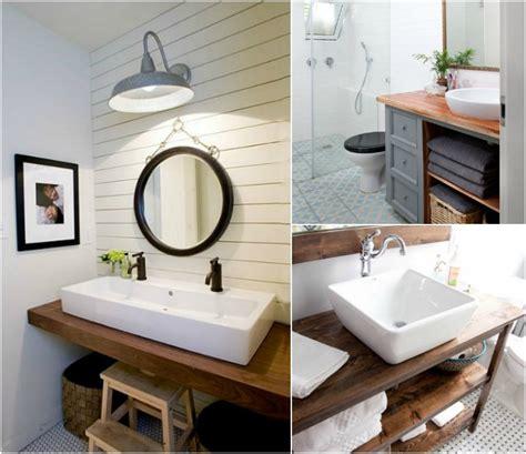 plan de travail teck salle de bain plan de travail salle de bain en bois pour tous les styles 20 inspirations