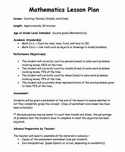 sample math lesson plan template 9 free documents With examples of lesson plan templates
