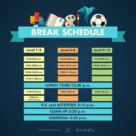 A.C.E. News   Break Schedule Guide