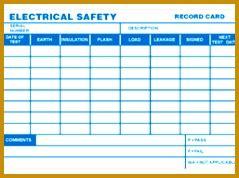 pat testing record sheet template fabtemplatez