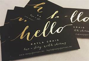 minted gold foil business cards networking tips With gold lettering business cards