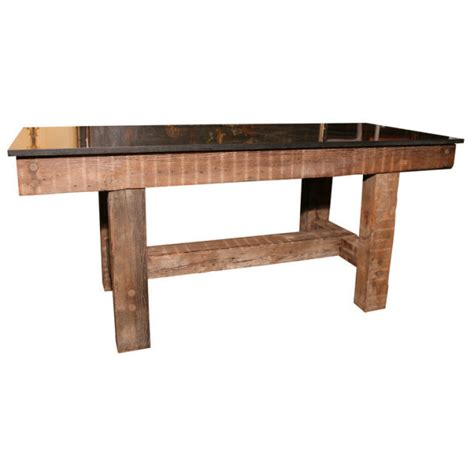 granite top rustic table for sale antiques classifieds