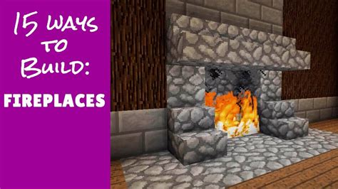 minecraft furniture fireplace designs  ideas youtube