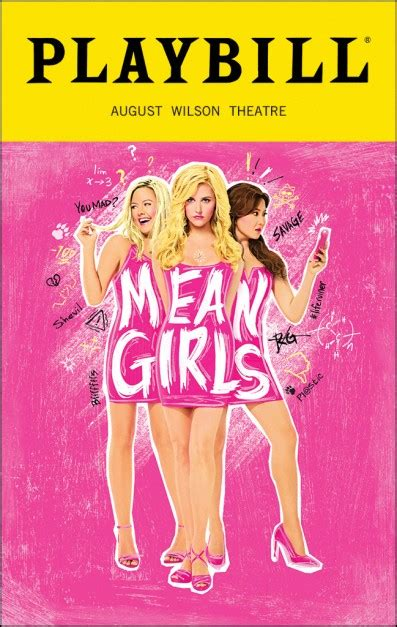 ashley park playbill mean girls broadway august wilson theatre tickets and