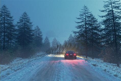 snowy road  cgtrader
