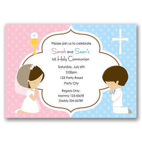 First Holy Communion Invitation (Boy & Girl) CallaChic