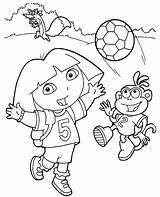 Dora Coloring Boots Swiper Colouring Explorer sketch template