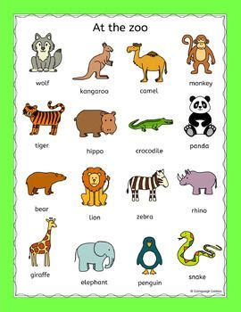 Fun, No Prep, Print And Go Puzzles For Practicing Zoo Animals Vocabulary  Lion, Tiger, Bear