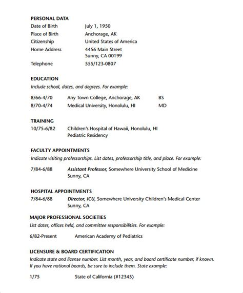Free Resume Template For Doctors by 7 Doctor Resume Templates Documents In Pdf Psd