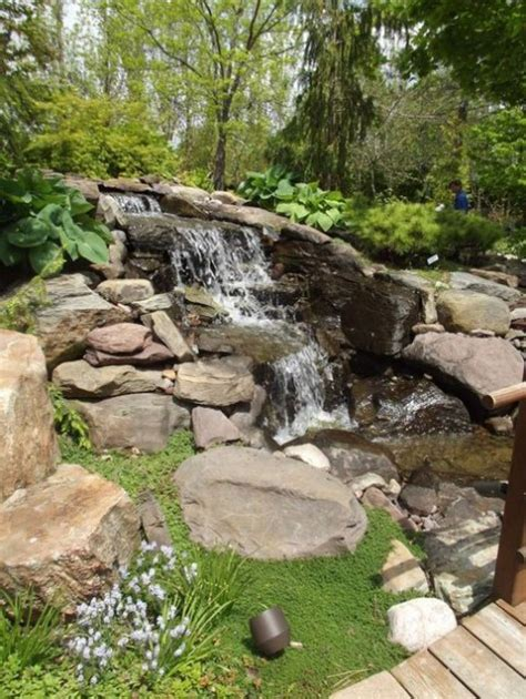 outside waterfalls backyard waterfalls for your outdoor comfydwelling com