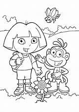 Dora Explorer Coloring Pages Coloring2print sketch template