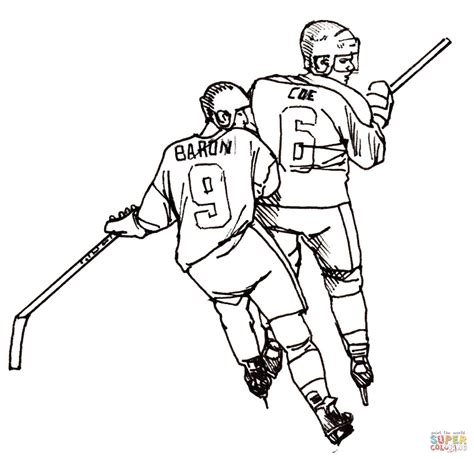 Free Printable Coloring Pages Hockey Players