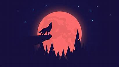 Wolf Moon Night 4k Howling Wallpapers Background