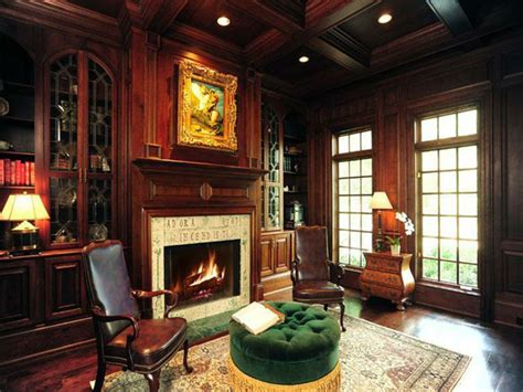 gothic living room  fireplaces