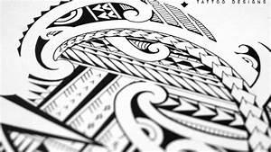 Drawing a halfsleeve tattoo with Maori and Samoan patterns ...