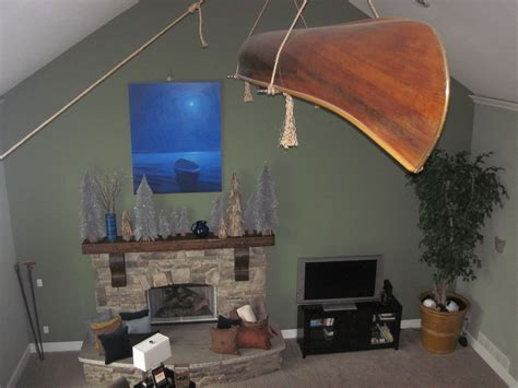 hanging canoe from ceiling my house my ideas home