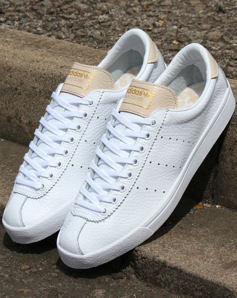 Adidas Lacombe Trainers White/Pink - adidas At 80s Casual ...