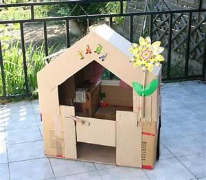 Cabane En Carton À Colorier : cabane en carton lison cabane en carton cardboard house cabane en carton cabane et carton ~ Melissatoandfro.com Idées de Décoration