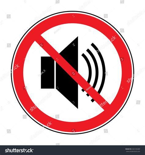 No Noise Icon Indicating Signal Silence Stock Illustration