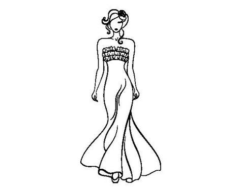 Gala Kleurplaat by Dibujo De Vestido De Boda Elegante Para Colorear