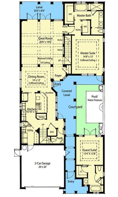 plan zr energy saving courtyard house plan pool house plans courtyard house plans
