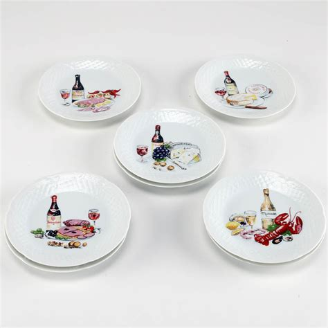 canapé limoges limoges porcelain wine and cheese canape plates ebth