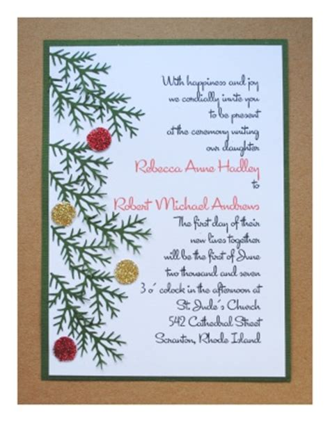 diy wedding invitations christmas diy christmas wedding invitations