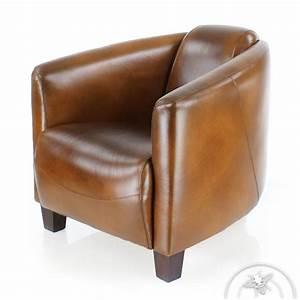 Fauteuil Cuir Marron Vintage : fauteuil club cuir marron vintage op ra saulaie ~ Teatrodelosmanantiales.com Idées de Décoration