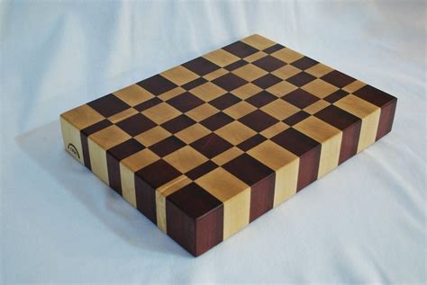Hand Made Solid End Grain Butcher Blockcutting Board By