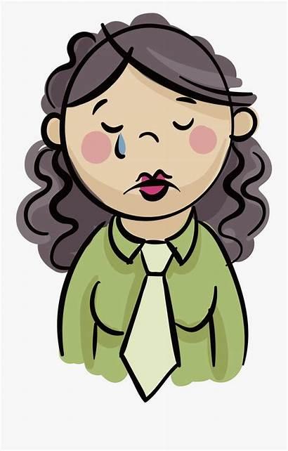 Triste Dibujo Sad Mujer Clipart Doraemon Clipartkey