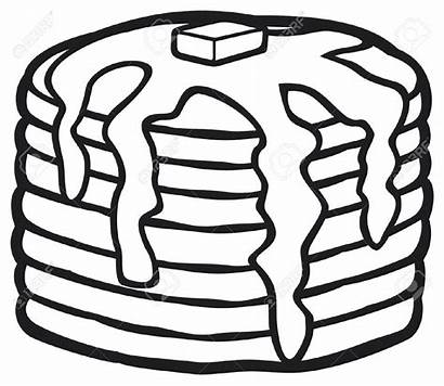Pancakes Clipart Syrup Butter Maple Pancake Stack