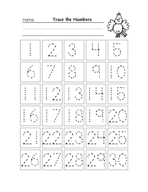 preschool number tracing worksheets 1 20 kindergarten trace numbers 1 20 printable loving printable 783