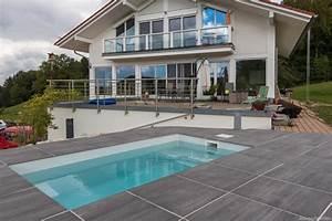 minipool wat meersalzwasser tauchbecken fur den garten With französischer balkon mit kleiner pool garten