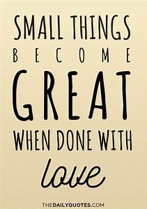 Small Things - The Daily Quotes