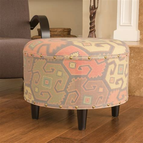 Printed Ottomans by Hedley Contemporary Printed Fabric Ottoman Ebay