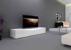 Meuble Tele Moderne : meuble tv bas contemporain ~ Teatrodelosmanantiales.com Idées de Décoration