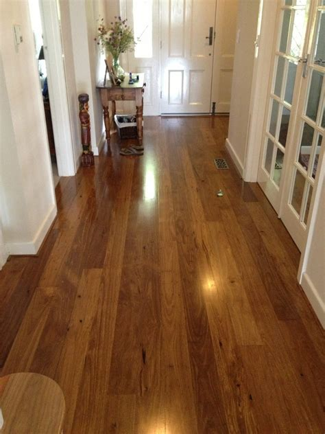 Timber Flooring Installation of Tallowwood Feature Grade