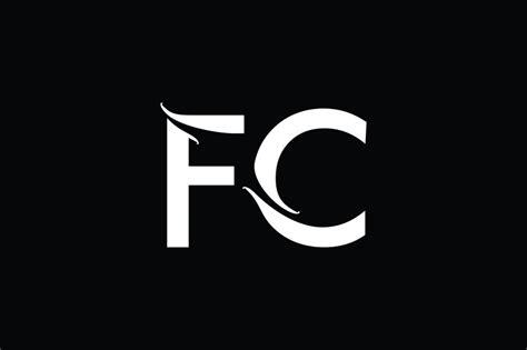 fc monogram logo design  vectorseller thehungryjpegcom