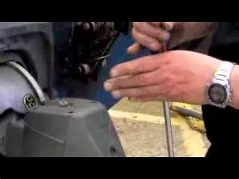 checking  oil   volvo outdrive youtube